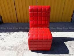Б. у кресла красные в кафе ресторан, бу мебель мягкая кожзам