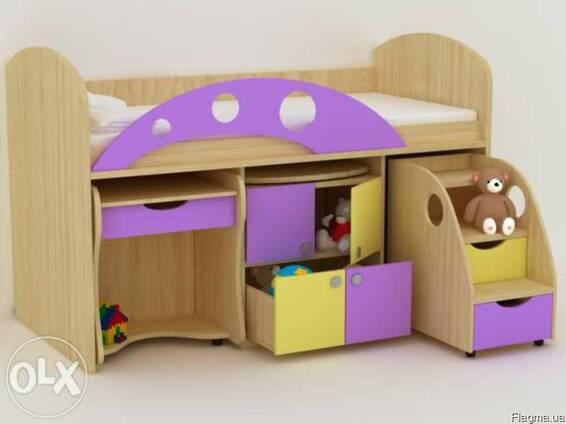 Багатофункційне ліжко для малюків