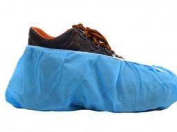 Бахіли сині з посиленим швом