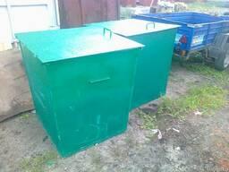 Бак мусорный 750 литров с крышкой без колес