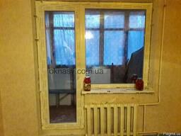 Балконный блок. Металлопластиковые двери. Балконные двери.
