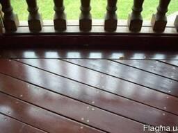 Балконы под ключ. Обшивка террасной и фасадной доской.
