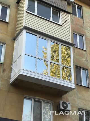 Балконы под ключ , расширение балконов , обшивка балконов сайдингом