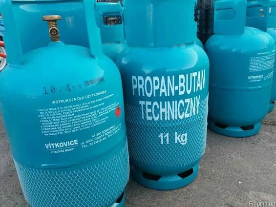 Баллоны газовые пропан-бутан технической 11 кг/20 Л