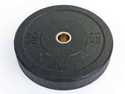 Бамперные диски для кроссфита Bumper Plates из структурной резины d-51мм 20кг
