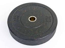 Бамперные диски для кроссфита Bumper Plates из структурной резины d-51мм 25кг