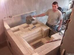 Банная печь с закрытой каменкой.