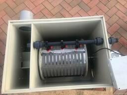 Барабанный фильтр 20 м3 для УЗВ/Водоема с Кои/Пруда