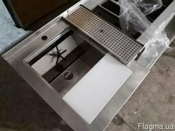 Барна станция со столом, мойкой, ринзером. рельсой и горкой