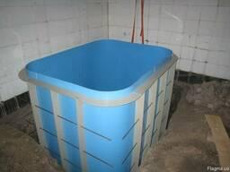 Бассейны из полипропилена , Купели для бань, саун - фото 3