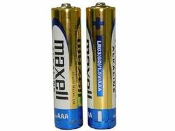 Батарейка AAA Maxell Alkaline LR03 в пленке 1шт (2шт в уп. )