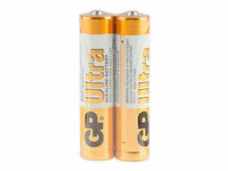 Батарейка GP Ultra 24AUEBC-2S2, щелочная AAA, 2 шт в вакуумной упаковке, цена за упаковку