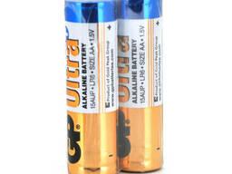Батарейка GP Ultra Plus 15AUP-2S2, щелочная AA, 2 шт в вакуумной упаковке, цена за. ..