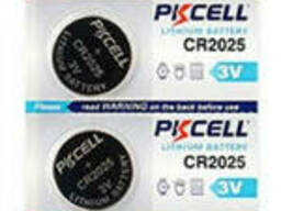 Батарейка литиевая Pkcell CR2025, 5 шт в блистере (упак.100 штук) цена за блист. Q30