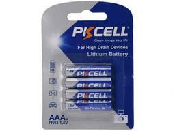 Батарейка литиевая Pkcell LiFe 1.5V AAA/FR03, 4 шт в блистере (упак.48 штук) цена за. ..