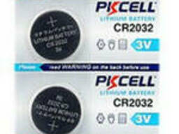 Батарейка литиевая Pkcell CR2032, 5 шт в блистере (упак.100 штук) цена за блист. Q30