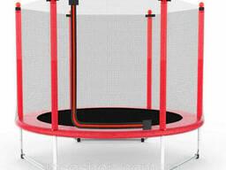 Батут Atleto 152 см з сіткою червоний (5 ft)
