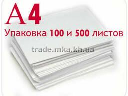 Белая крафт бумага А4