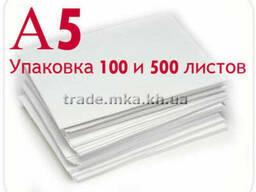 Белая крафт бумага А5