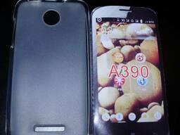 Белый силиконовый чехол Lenovo A390 IdeaPhone
