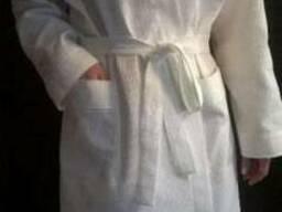 Белый вафельный халат