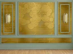 3D бeз вінілові шпалери в спальню під фарбування Мандала Круги 3D Mandala Circle 250 см. ..