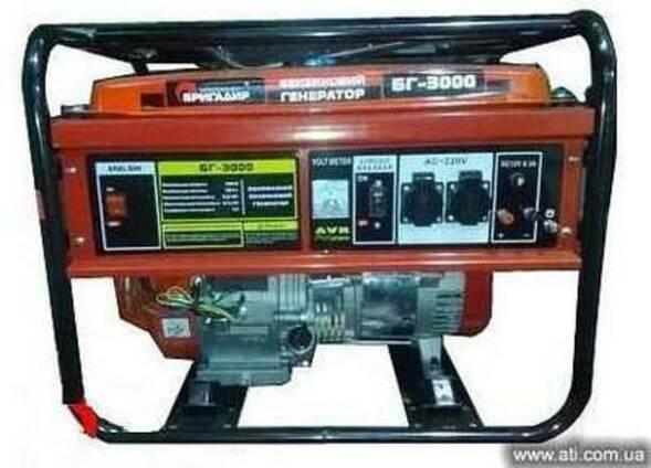 Бензогенератор Бригадир БГ-3000ES 3.0 кВт