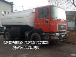 Бензовоз МАН (червоний) TGA 19.293