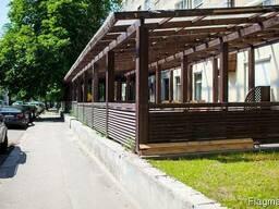 Летняя площадка, терраса для кафе и ресторанов из дерева