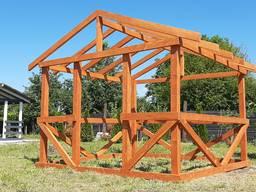 Беседка деревянная 3х3м