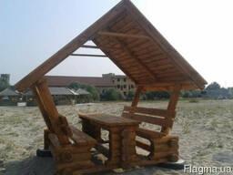 Беседка деревянная Альтанка №1
