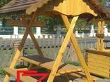 Беседка деревянная под камышом - фото 3