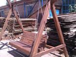 Беседки, Качели деревянные, столы , лавочки. пиломатериалы - фото 2