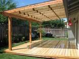 Беседки , навесы, перголы, деревянные столы, изделия под заказ - фото 5