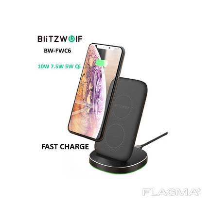 Беспроводная зарядка BlitzWolf BW-FWC6 10W Qi iPhone Samsung