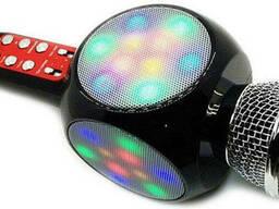 Беспроводной караоке микрофон WS1816 со цветомузыкой и. ..
