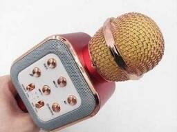 Беспроводной микрофон караоке Wster WS 1818, розовое золото