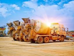 Бетон товарный М100-М400, щебень, песок