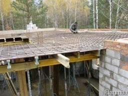 Бетонирование малоэтажного строения любой сложности
