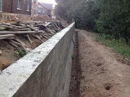Бетонирование подпорной стенки