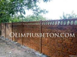 Бетонный забор - фото 3