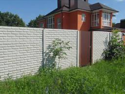 """Бетонный забор из плит """"Фагот"""" с установкой в Запорожье"""