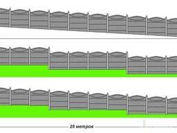 Бетонный забор,установка