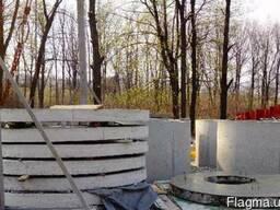 Бетонные кольца для колодцев и канализации, жб люки, крышки