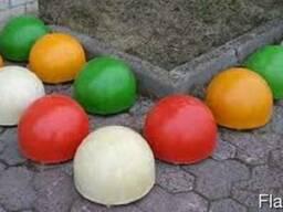 Бетонные полусферы( цветные)