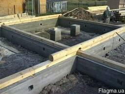 Бетонные работы:фундамент, забор, промышленные полы