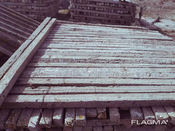 Отборные столбики б у без посредников на забор рабица бетонные столбы