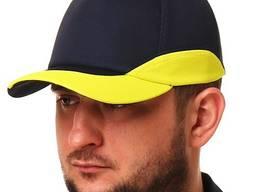 Бейсболка с желтой вставкой