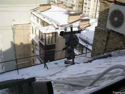 Безнал. Чистка снега с крыш Киев, Удаление наледи