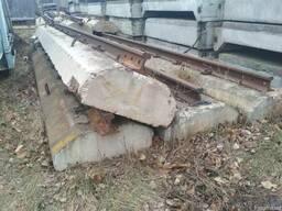 Бипы , подкрановый путь . р-50 рельс 6,25м на бетоне